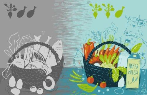 Pflanzlich oder tierisch? Nahrungsmittel unterschiedlich besteuern!