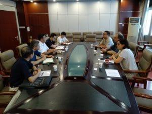 Das Gespräch beim Institut für Festabfall der Akademie für Umweltwissenschaften der Provinz Sichuan (SCAES), Quelle: Öko-Institut