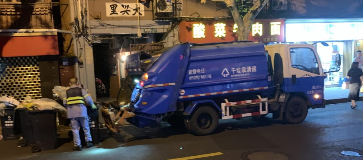 In China kommt die Müllabfur nachts, Quelle: Öko-Institut