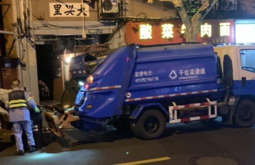 In China kommt die Müllabfuhr nachts
