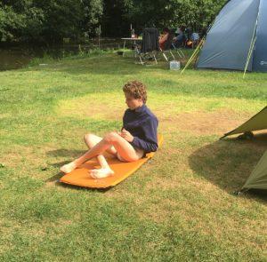 Felix auf dem Campingplatz. Quelle: Öko-Institut